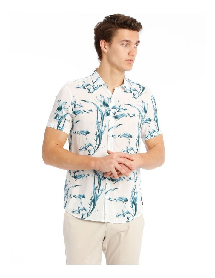 Cala Floral All Over Print Short Sleeve Rayon Shirt image 1