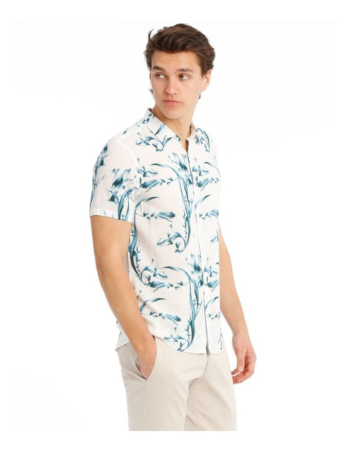 Cala Floral All Over Print Short Sleeve Rayon Shirt image 2