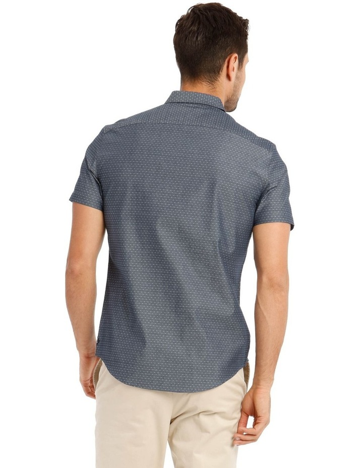 Brighton Chambray Spot Short Sleeve Relaxed Shirt image 3