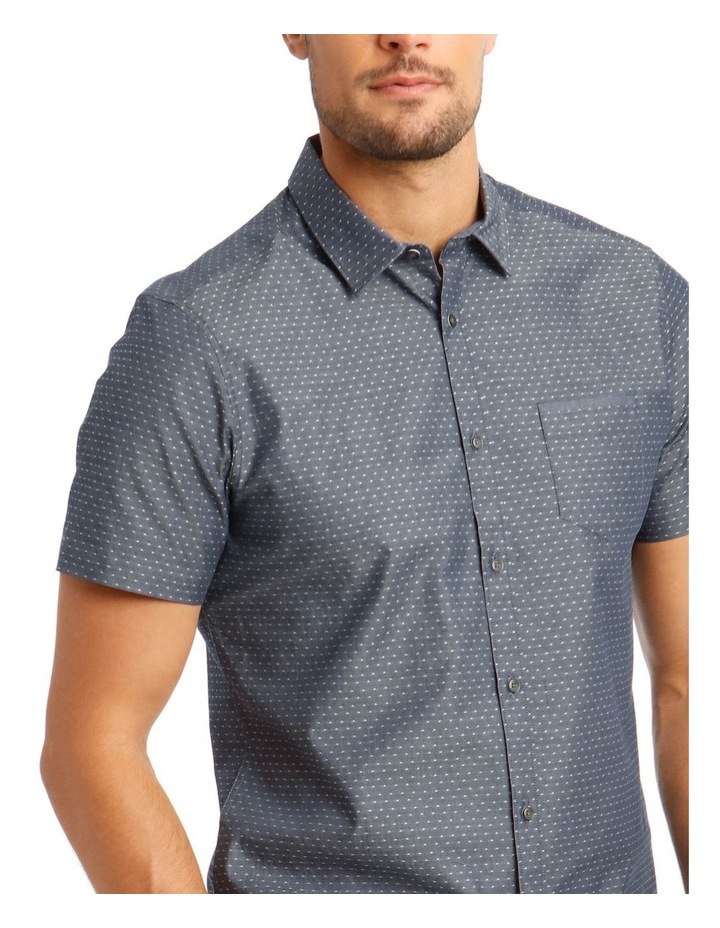 Brighton Chambray Spot Short Sleeve Relaxed Shirt image 4