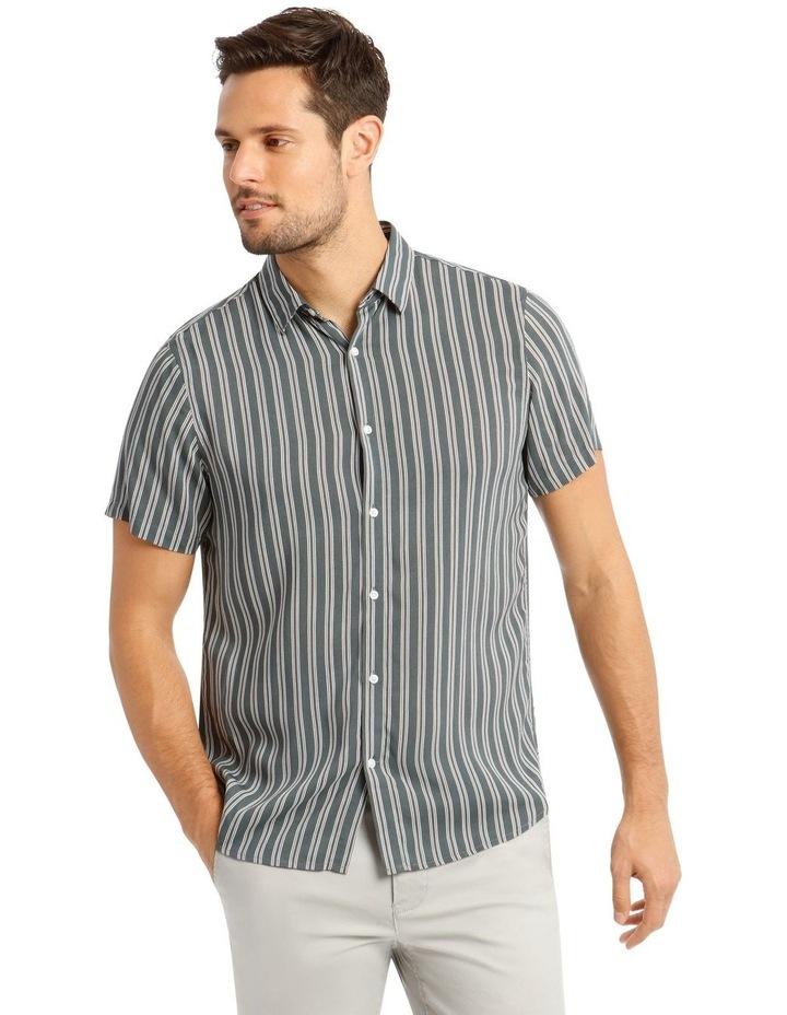 Cuba Stripe Short Sleeve Rayon Shirt image 1