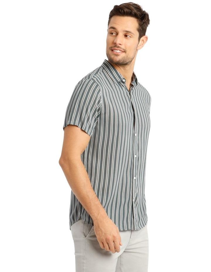 Cuba Stripe Short Sleeve Rayon Shirt image 2