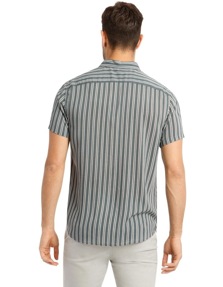 Cuba Stripe Short Sleeve Rayon Shirt image 3