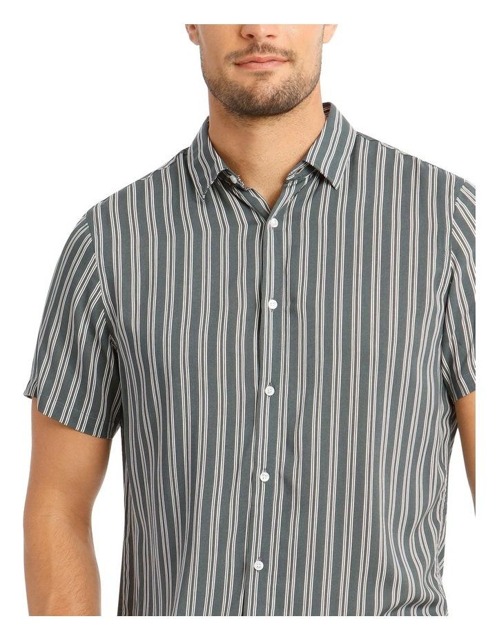 Cuba Stripe Short Sleeve Rayon Shirt image 4