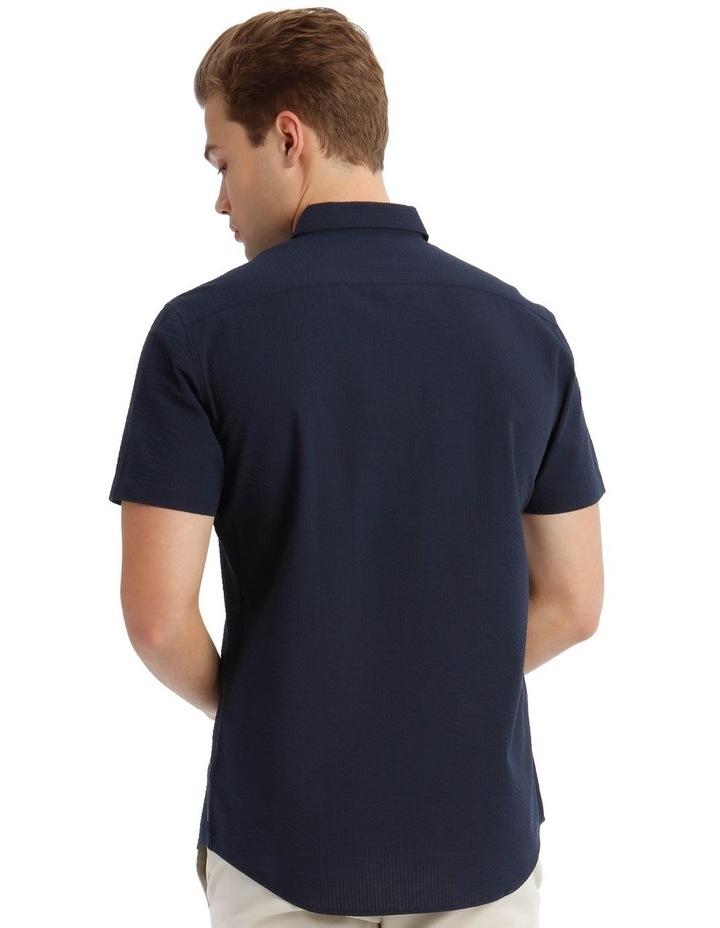 Sorrento Seersucker Short Sleeve Relaxed Shirt image 3