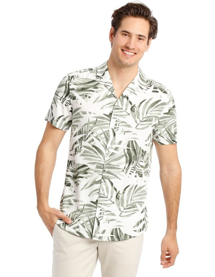 Acai Palm Print Short Sleeve Rayon Shirt image 1