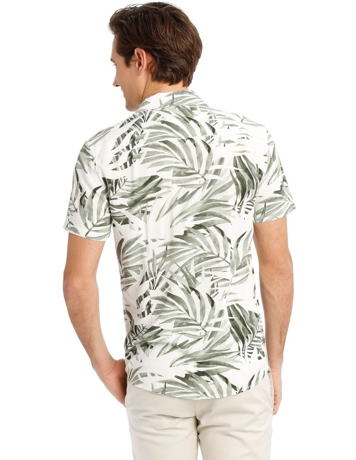 Acai Palm Print Short Sleeve Rayon Shirt image 3