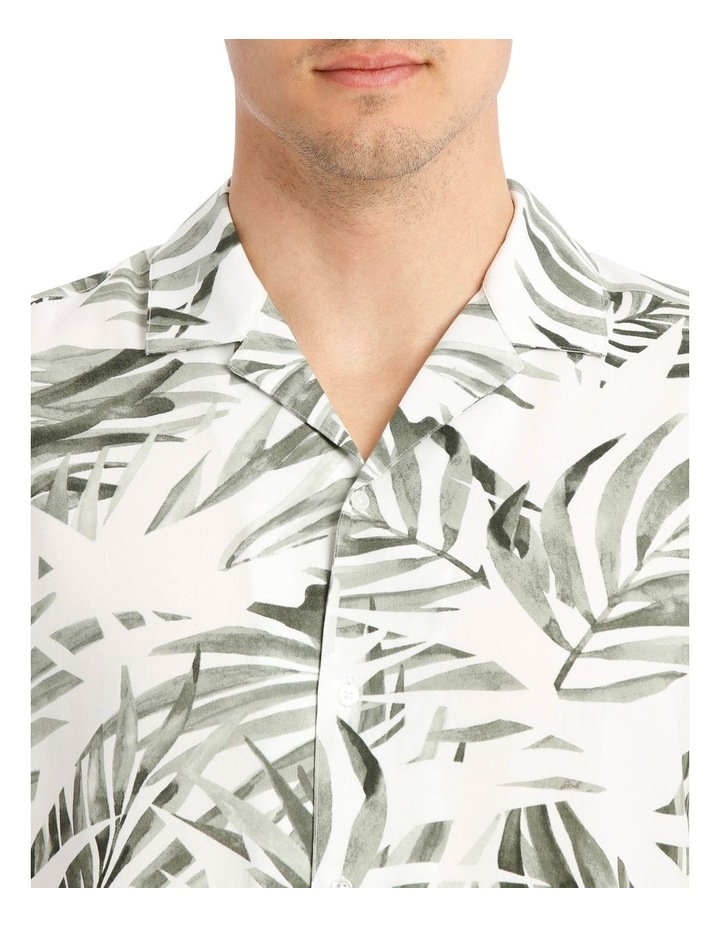 Acai Palm Print Short Sleeve Rayon Shirt image 4