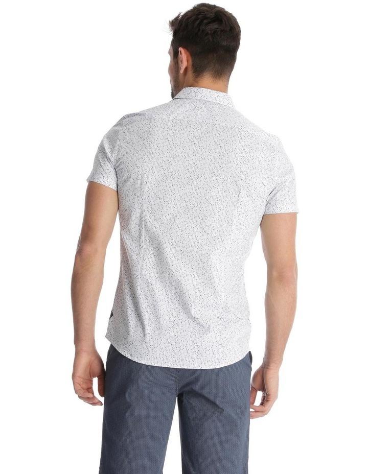 Caspian Printed Short Sleeve Slim Shirt image 3