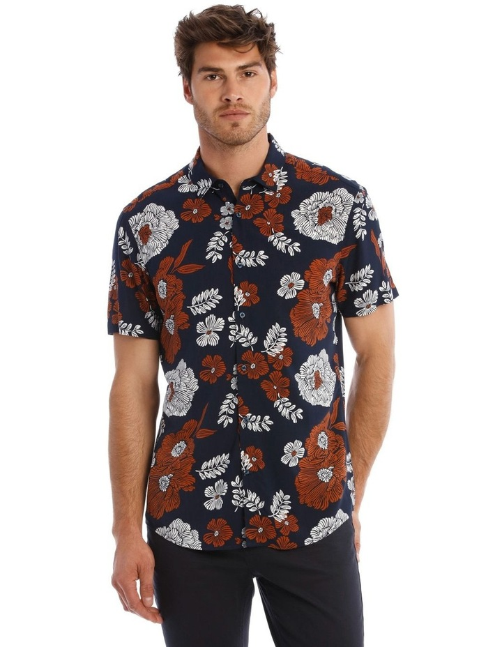 Nev Floral Print Short Sleeve Relaxed Shirt image 1