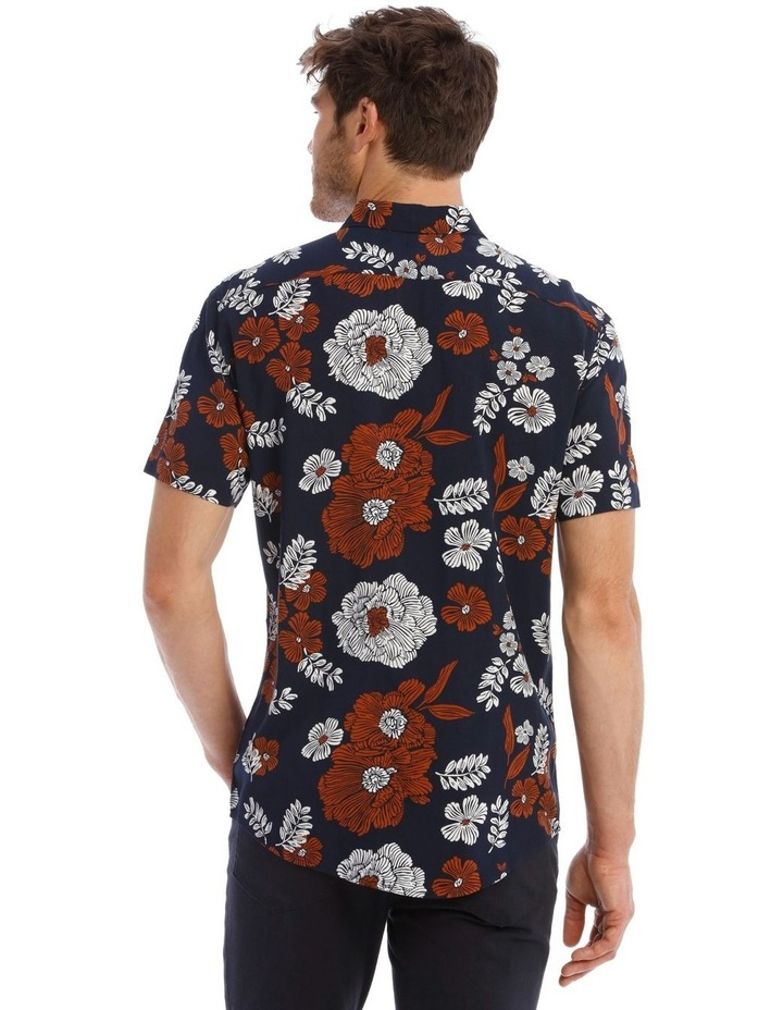 Nev Floral Print Short Sleeve Relaxed Shirt image 3
