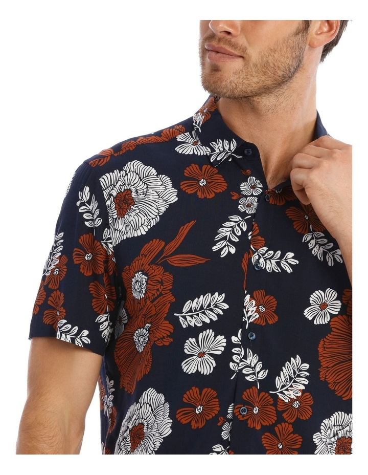 Nev Floral Print Short Sleeve Relaxed Shirt image 4