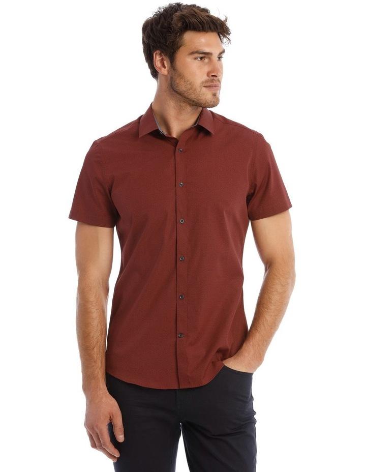 Lynton Tile Print Slim Short Sleeve Shirt image 1