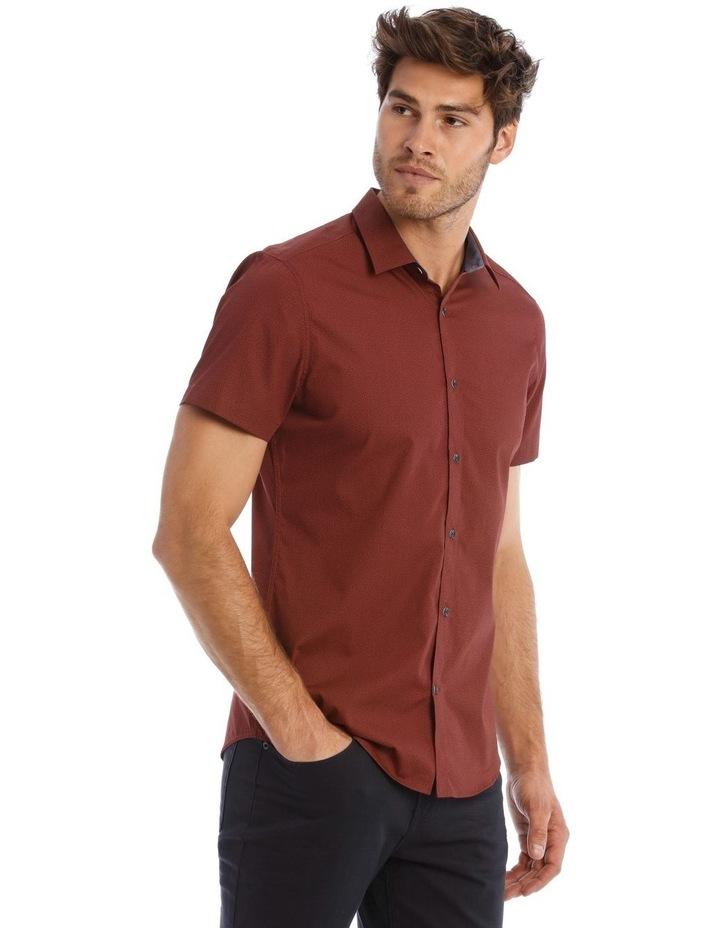 Lynton Tile Print Slim Short Sleeve Shirt image 2