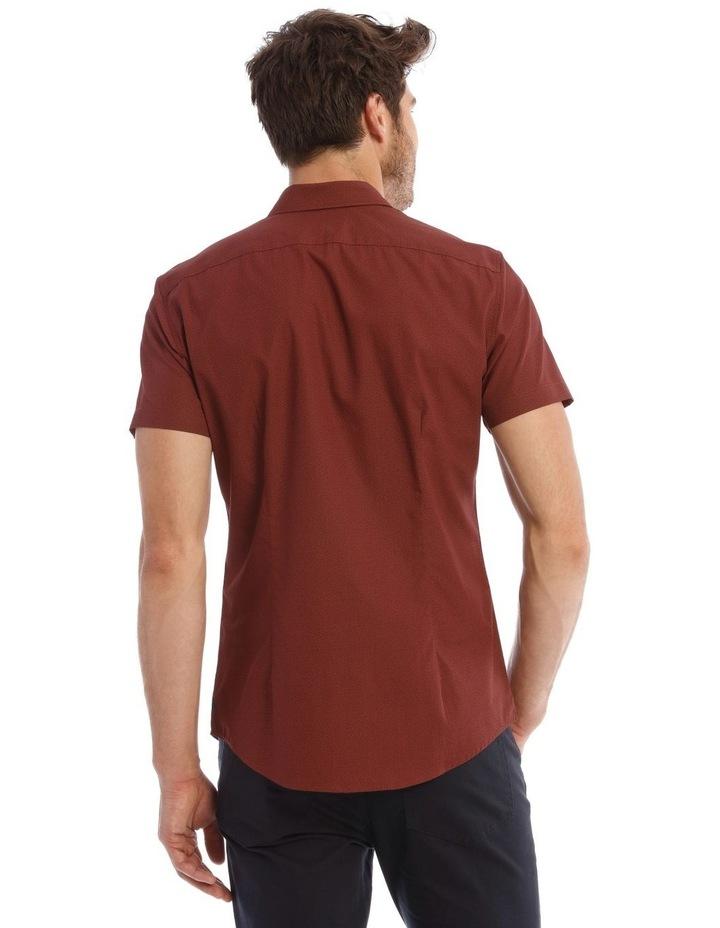 Lynton Tile Print Slim Short Sleeve Shirt image 3