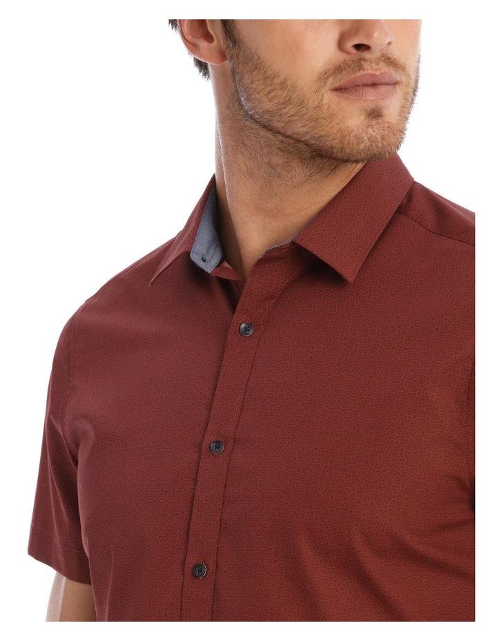 Lynton Tile Print Slim Short Sleeve Shirt image 4