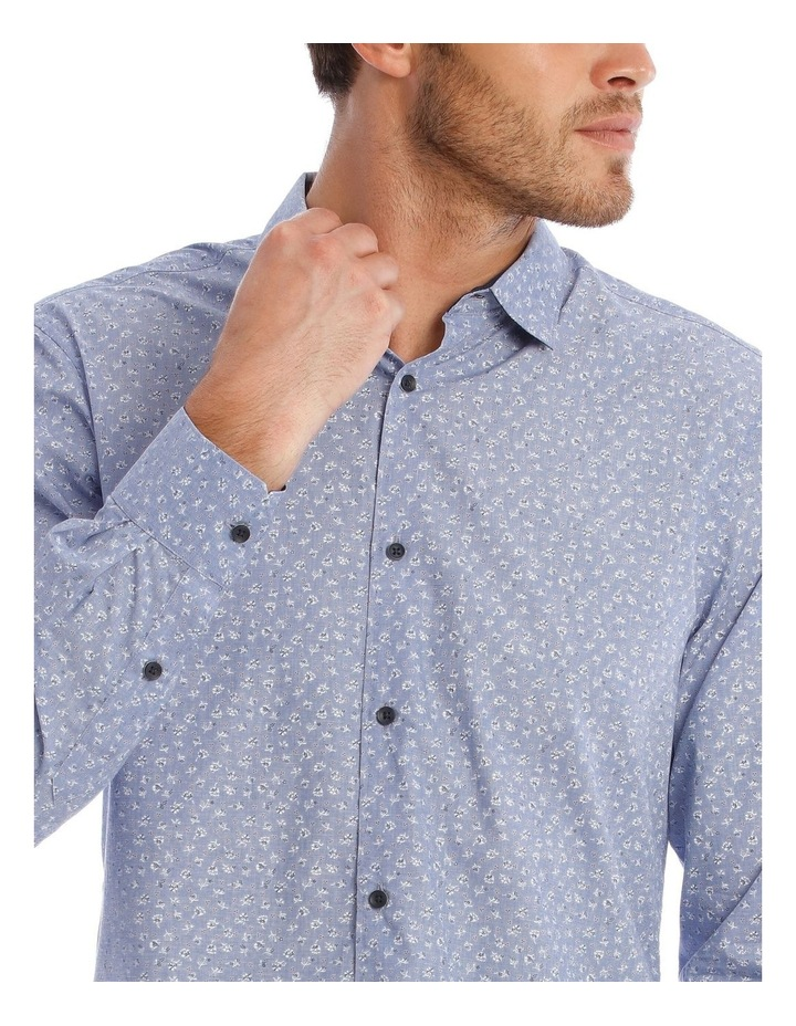 Allen Printed Long Sleeve Relaxed Shirt image 4