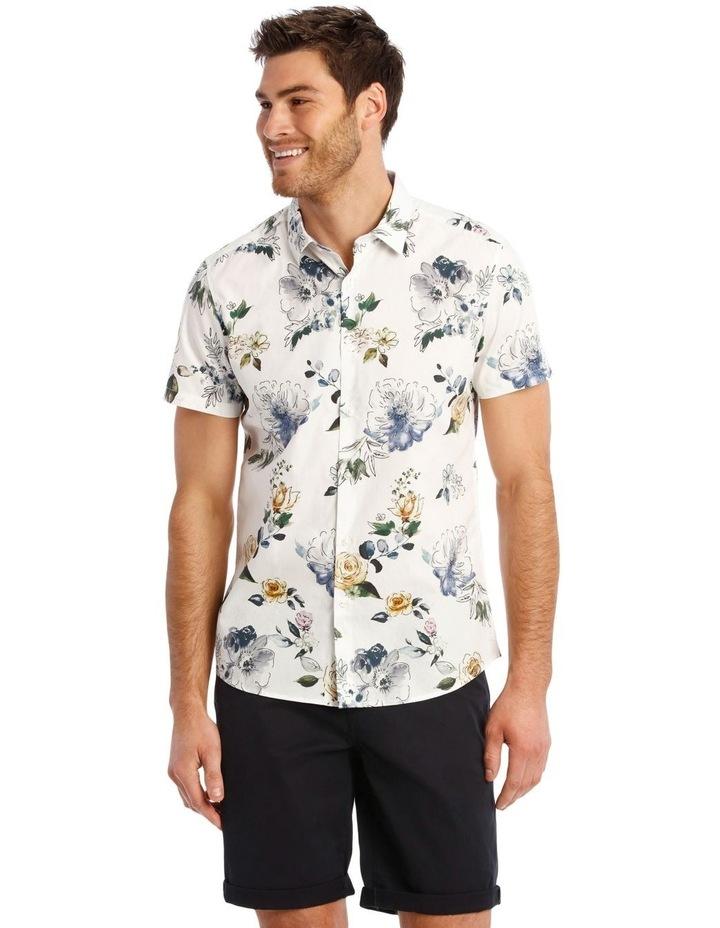 Aruba Floral Print Short Sleeve Slim Shirt image 1