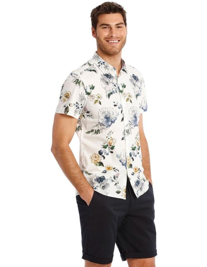 Aruba Floral Print Short Sleeve Slim Shirt image 2