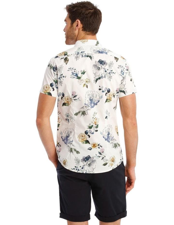 Aruba Floral Print Short Sleeve Slim Shirt image 3