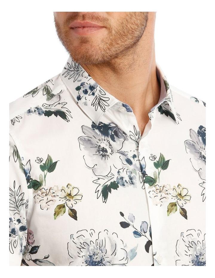 Aruba Floral Print Short Sleeve Slim Shirt image 4