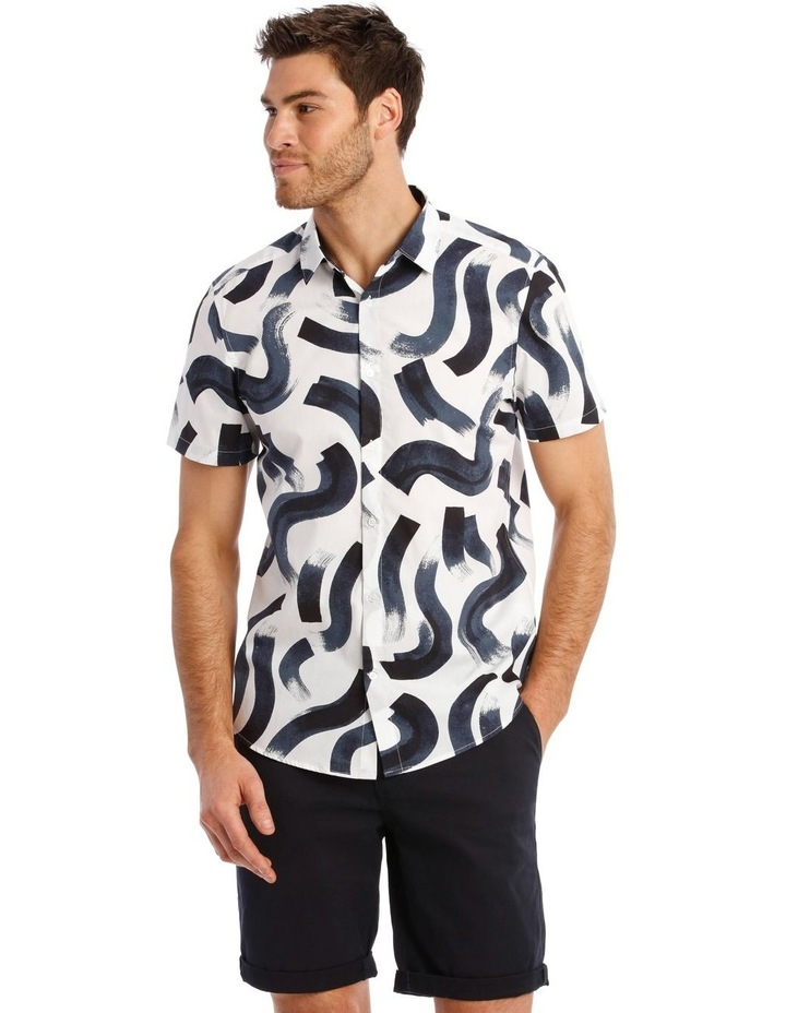 Argentina Abstract Print Short Sleeve Relaxed Shirt image 1