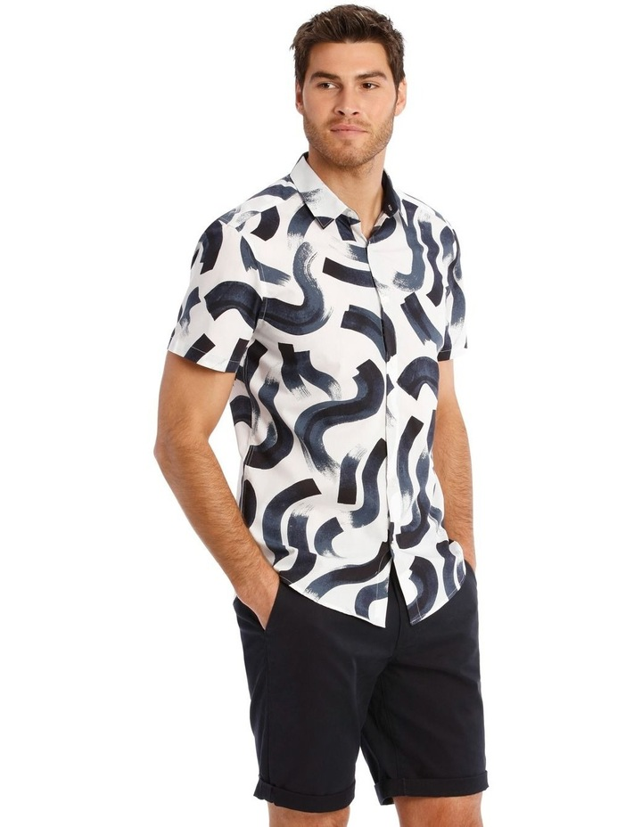 Argentina Abstract Print Short Sleeve Relaxed Shirt image 2