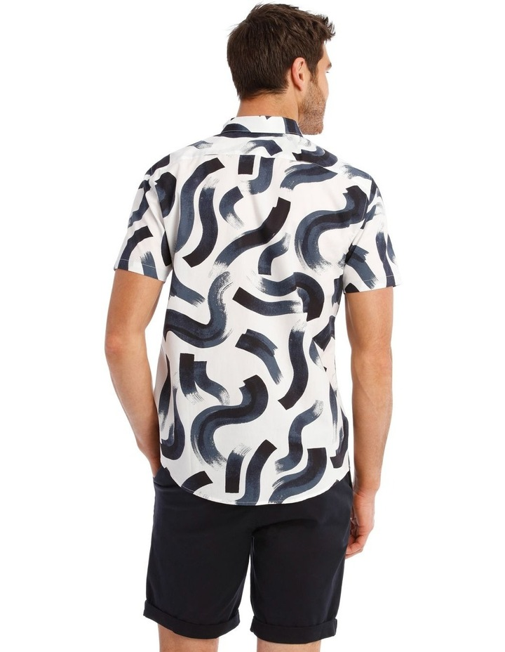 Argentina Abstract Print Short Sleeve Relaxed Shirt image 3