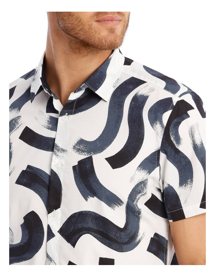 Argentina Abstract Print Short Sleeve Relaxed Shirt image 4