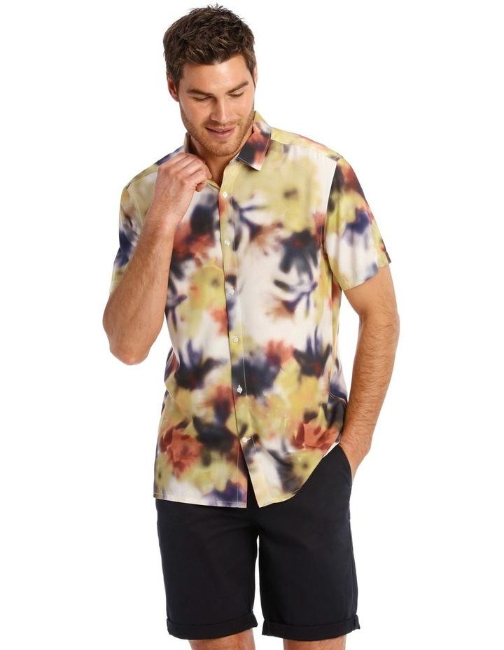 Polynesia Abstract Print Short Sleeve Viscose Shirt image 1