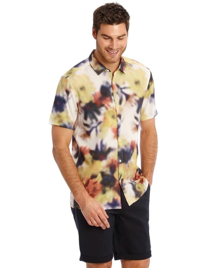 Polynesia Abstract Print Short Sleeve Viscose Shirt image 2