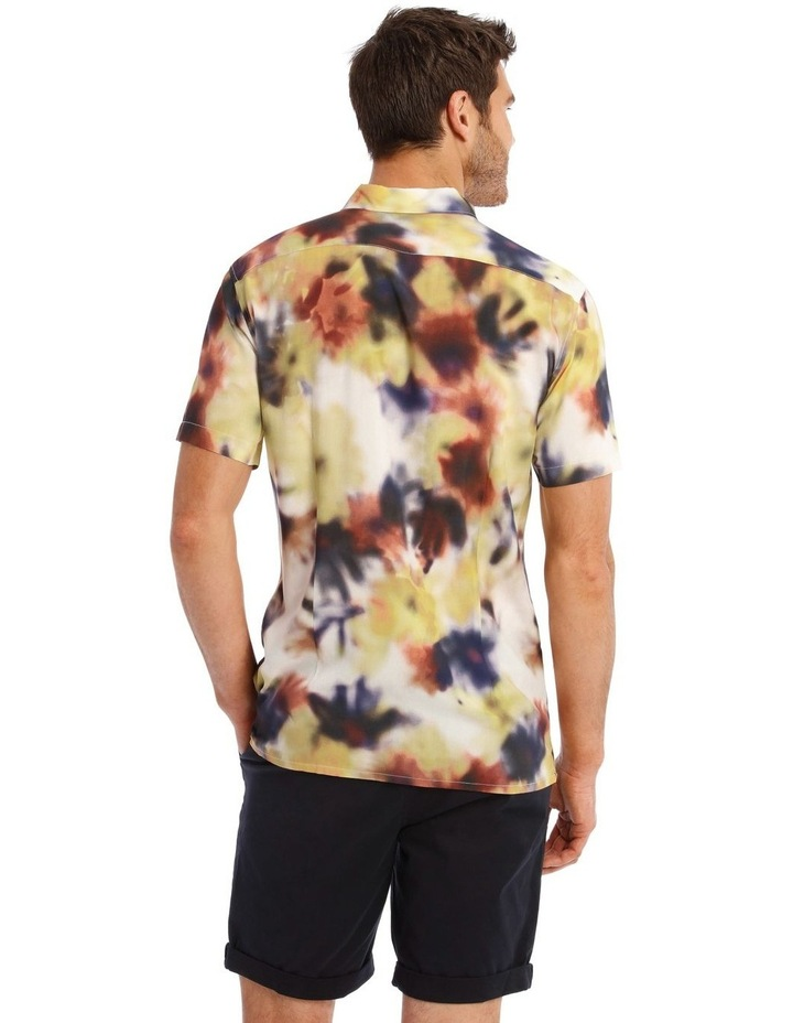 Polynesia Abstract Print Short Sleeve Viscose Shirt image 3
