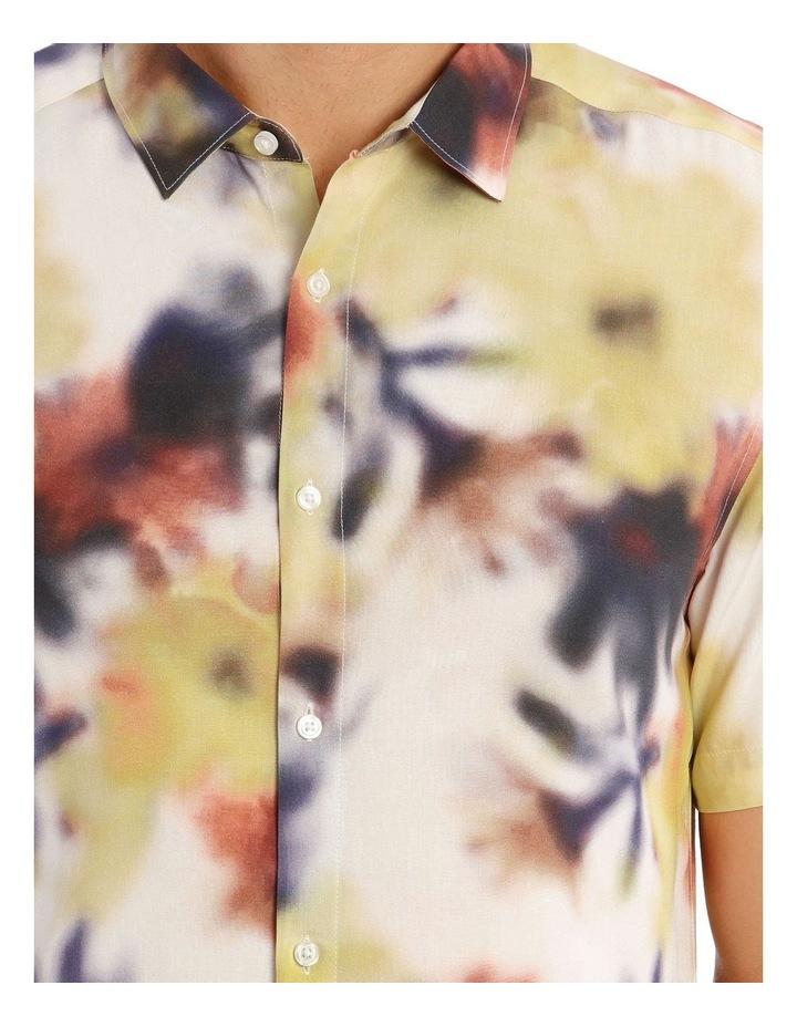 Polynesia Abstract Print Short Sleeve Viscose Shirt image 4