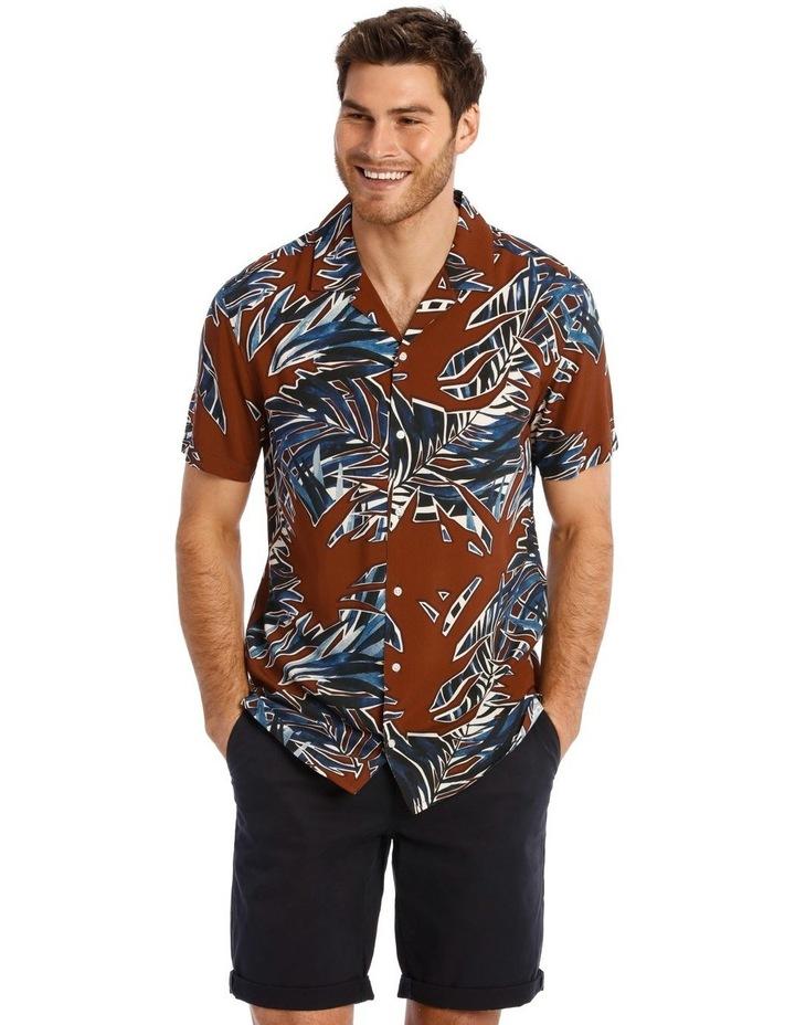 Joshua Floral Print Short Sleeve Viscose Shirt image 1