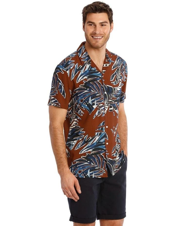 Joshua Floral Print Short Sleeve Viscose Shirt image 2