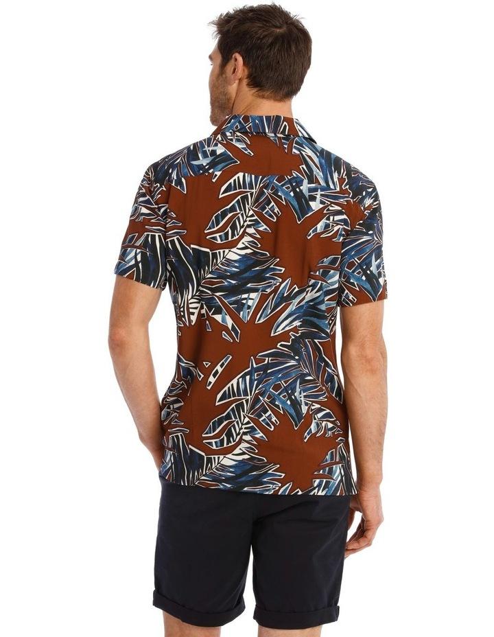 Joshua Floral Print Short Sleeve Viscose Shirt image 3