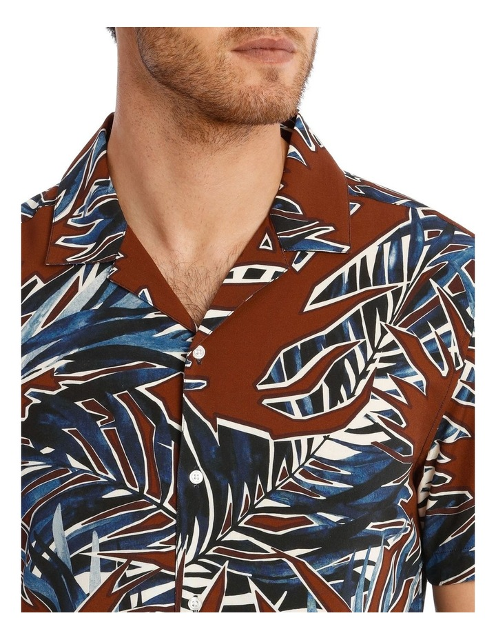 Joshua Floral Print Short Sleeve Viscose Shirt image 4