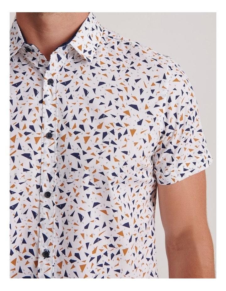 Navagio Geo Print Short Sleeve Relaxed Shirt image 5