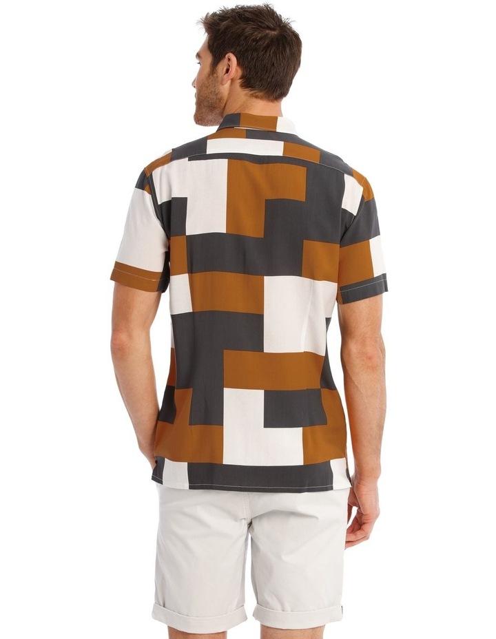 Caribbean Abstract Print Short Sleeve Viscose Shirt image 3
