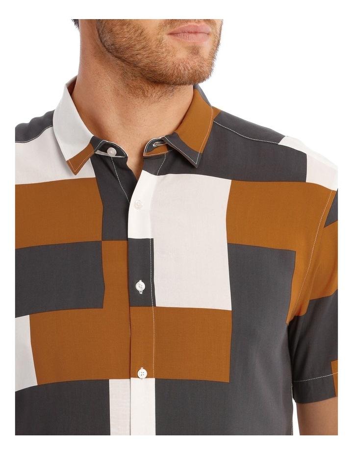 Caribbean Abstract Print Short Sleeve Viscose Shirt image 4