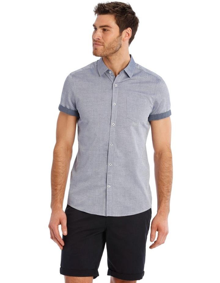 Waikiki Textured Short Sleeve Slim Shirt image 1