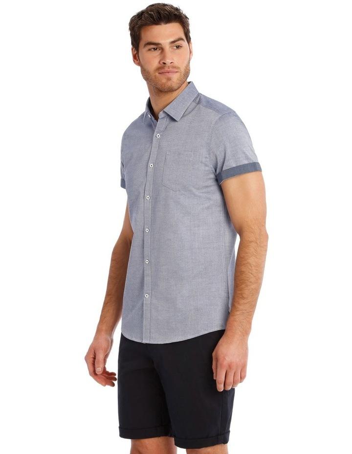 Waikiki Textured Short Sleeve Slim Shirt image 2