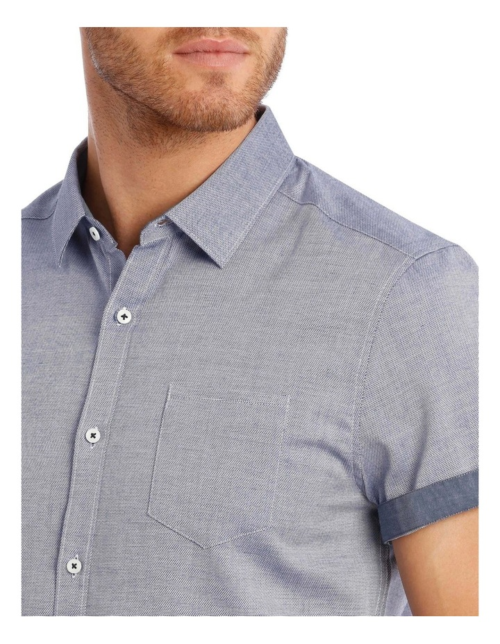 Waikiki Textured Short Sleeve Slim Shirt image 4