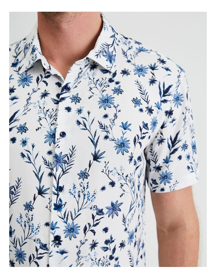 Blanco Short-Sleeve Ditsy Print Shirt image 1