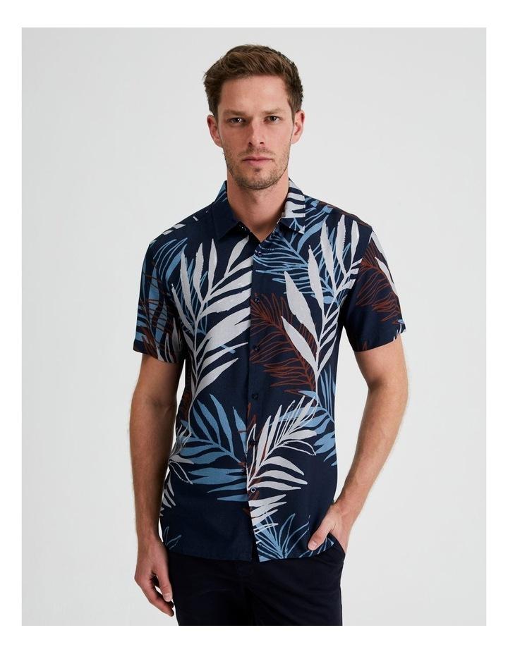 Yucca Floral Print Short Sleeve Viscose Shirt image 1