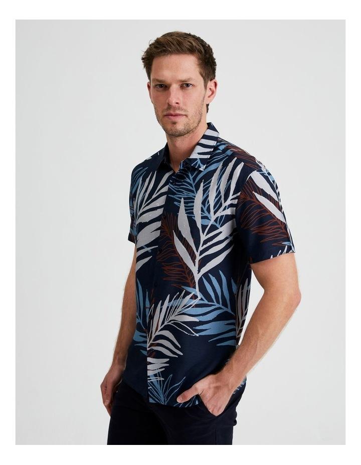 Yucca Floral Print Short Sleeve Viscose Shirt image 2