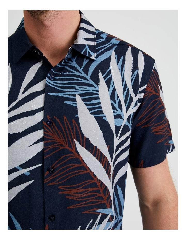 Yucca Floral Print Short Sleeve Viscose Shirt image 5