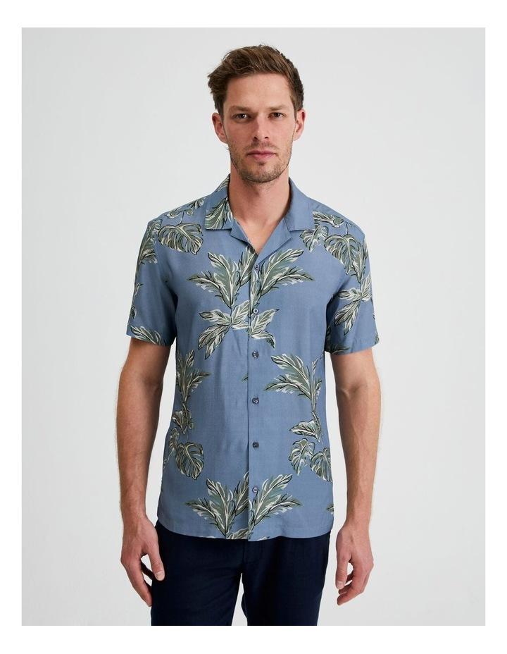 Hawaii Floral Print Short Sleeve Viscose Shirt image 1