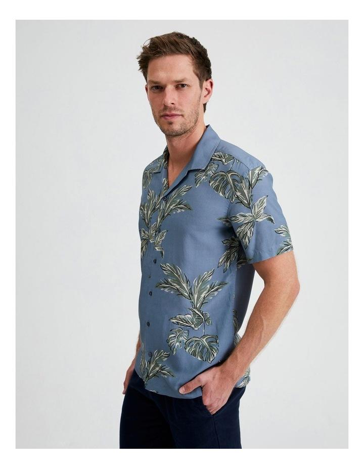 Hawaii Floral Print Short Sleeve Viscose Shirt image 2