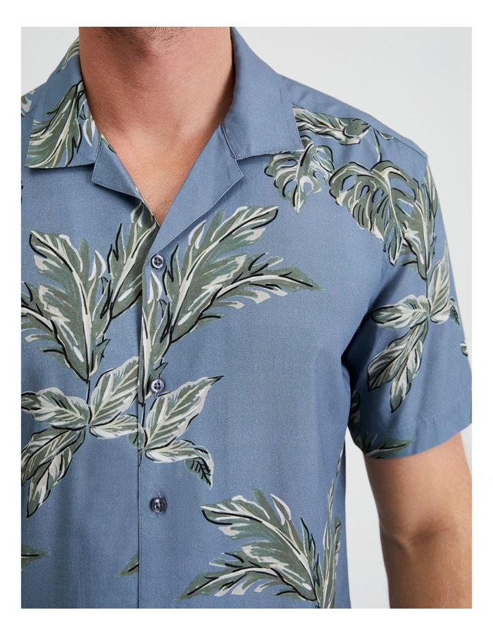 Hawaii Floral Print Short Sleeve Viscose Shirt image 5